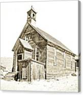 Bodie Ghost Town Church Canvas Print