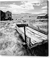 Bodie Ghost Town In Black And White Canvas Print