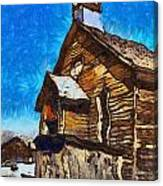 Bodie Ghost Town Methodist Church Canvas Print