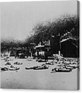 Bodies Of Chinese Communists Lie Canvas Print
