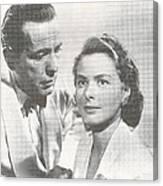 Bogart And Bergman Canvas Print