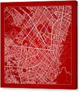 Bogota Street Map - Bogota Colombia Road Map Art On Color Canvas Print