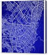 Bogota Street Map - Bogota Colombia Road Map Art On Colored Back Canvas Print