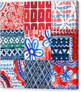 Boho Americana- Patchwork Painting Canvas Print