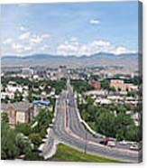 Boise From Boise Depot Tower Canvas Print