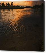 Boise River Dramatic Sunset Canvas Print
