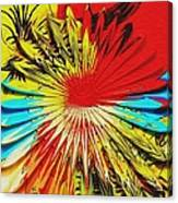 Bold Floral Hat Abstract Canvas Print