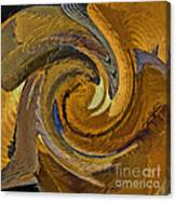Bold Golden Abstract Canvas Print