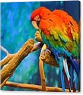 Bold Parrot Canvas Print