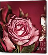 Bold Pink Rose Bouquet Canvas Print