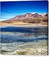 Bolivia Desert Lake Framed Canvas Print