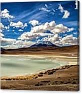 Bolivia Lagoon Clouds Framed Canvas Print