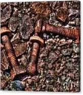 Bolts In Gravel Canvas Print