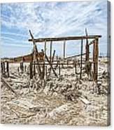 Bombay Beach Ruins Canvas Print