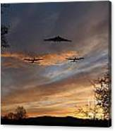 Bombers Pass By  Canvas Print