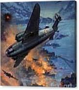 Bombing Scene Artist C E Turner  Canvas Print