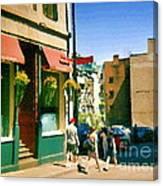 Bonaparte 4 Star Classic French Resto Vieux Montreal Paris Style Bistro Paintings Carole Spandau Art Canvas Print