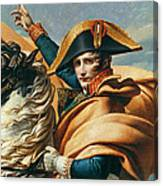 Bonaparte Crossing The Alps Oil On Canvas Detail Of 18491 Canvas Print