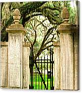 Bonaventure Cemetery Gate Savannah Ga Canvas Print