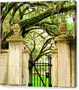 Bonaventure Gate Savannah Ga Canvas Print