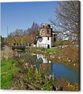 Bonds Mill Area Stroudwater Canal Canvas Print
