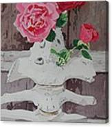 Bones And Roses Canvas Print