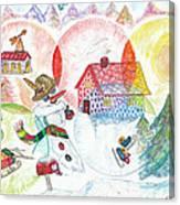 Bonnefemme De Neige / Snow Woman Canvas Print