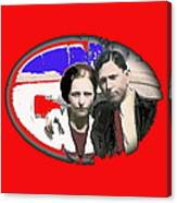 Bonnie And Clyde Close-up Detail Of Larger Image C. 1933-2013 Canvas Print