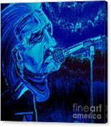 Bono In Blue Canvas Print