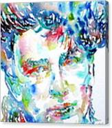 Bono Watercolor Portrait.1 Canvas Print