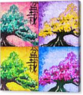 Bonsai Pop Art Canvas Print