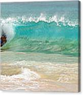 Boogie Board Surfing Canvas Print