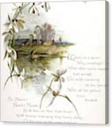 Book Illustration -- April Canvas Print