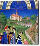 Book Of Hours: April Canvas Print