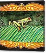 Puravida Frog Canvas Print