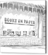 'books On Paper' Canvas Print