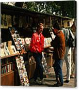 Bookstalls On Left Bank Canvas Print