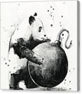 Boom Panda Canvas Print