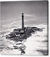 Boon Island Light Tower Circa 1950 Canvas Print