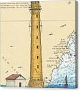 Boon Island Lighthouse Me Chart Art Cathy Peek Canvas Print
