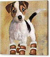 Boots For Baxter Canvas Print
