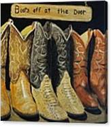 Boots Off At The Door Canvas Print