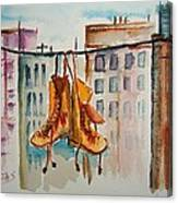 Boots On A Wire Canvas Print