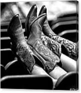 Boots Up - Bw Canvas Print