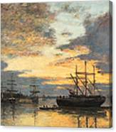 Bordeaux In The Harbor Canvas Print