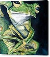 Boreal Flyer Tree Frog Canvas Print