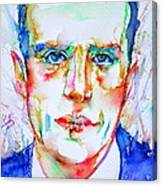 Boris Vian - Colored Pens Portrait Canvas Print
