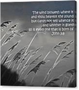 Born Of The Spirit Canvas Print