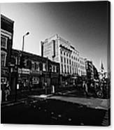 borough high street morning London England UK Canvas Print
