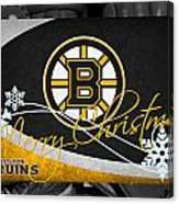 Boston Bruins Christmas Canvas Print